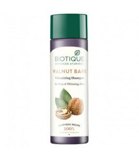 Szampon dodelikatnych włosów zOrzechem włoskim, Amlą, Reethą iBhringaraj – Biotique – 190 ml