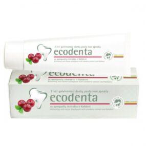Pasta ekologiczna dozębów 2w1 – PRZECIW KAMIENIOWI zekstraktem żurawinowym ibioktywnym wapniem – Ecodenta – 100 ml