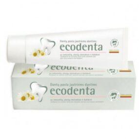 Pasta ekologiczna dozębów WRAŻLIWYCH zrumiankiem, ekstraktem goździkowym ibioaktywnym wapniem – Ecodenta – 100 ml