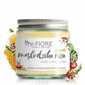 Masło dociała zpasieki DZIKA RÓŻA zmasłem shea, miodem iwoskiem pszczelim – e-Fiore – 120 ml
