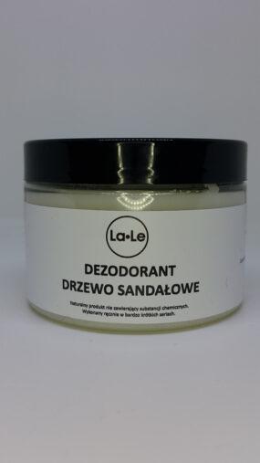 Dezodorant ekologiczny wkremie ozapachu drzewa sandałowego – La-Le – 150 ml