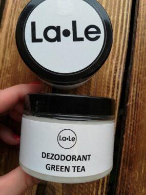 Dezodorant ekologiczny wkremie ozapachu green tea – La-Le – 150 ml