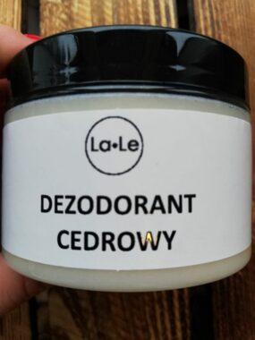 Dezodorant ekologiczny wkremie ozapachu cedrowym – La-Le – 150 ml