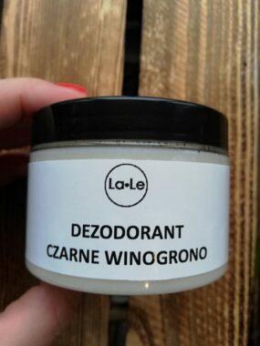 Dezodorant ekologiczny wkremie ozapachu czarnego winogrona – La-Le – 150 ml