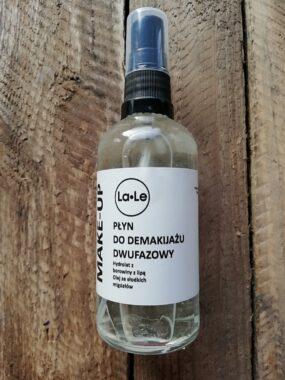 Płyn dodemakijażu dwufazowy – hydrolat borowina zlipą iolej zesłodkich migdałów – La-Le – 100 ml