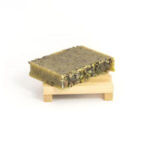Mydło naturalne LEN ZPYŁKIEM PSZCZELIM – Miodowa Mydlarnia – 95 g