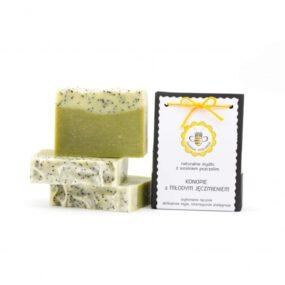 Mydło naturalne KONOPIE ZMŁODYM JĘCZMIENIEM – Miodowa Mydlarnia – 95 g