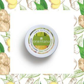 Naturalna maseczka zglinki IMBIR ITRAWA CYTRYNOWA – Orientana – 50 g