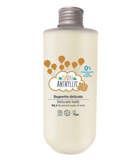 Płyn dokąpieli dla dzieci, bezzapachowy, naturalne prebiotyki, szklane opakowanie ZERO WASTE – Baby Anthyllis