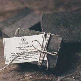 Mydło naturalne WĘGIEL AKTYWNY – Bydgoska Wytwórnia Mydła – 85 g
