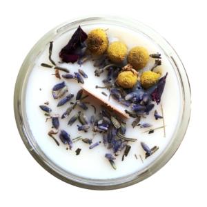 Świeca Sojowa – LAWENDA ZROZMARYNEM – Legalne Ziółka – 170 ml
