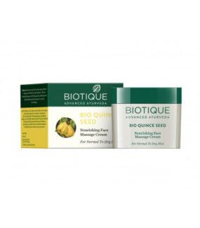 Odżywczy BIO Krem doMasażu Twarzy zNasion Pigwy & Witamina E – Biotique – 55 g