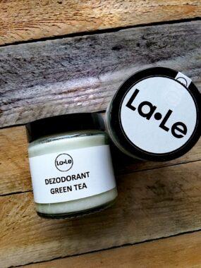 Dezodorant ekologiczny wkremie GREEN TEA wszkle – La-Le – 120 ml