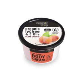 Krem dociała odżywczy Różowe Liczi – Organic Shop – 250 ml