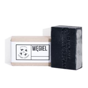 Mydło WĘGLOWE zaktywnym węglem docery trądzikowej – 4 Szpaki – 100 g