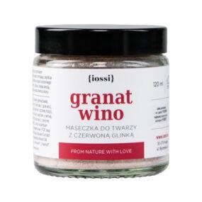Maseczka ujędrniająco – oczyszczająca granat iwino zczerwoną glinką – Iossi – 120 ml