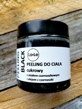 Peeling BLACK dociała cukrowy zmiałem czarnuszkowym iolejem zczarnuszki – La-Le – 120 ml