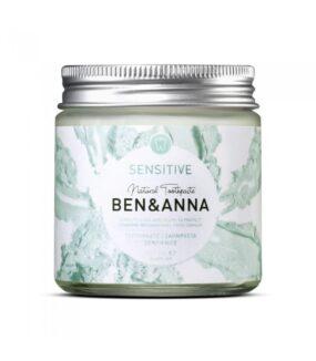 Naturalna pasta dowrażliwych zębów zrokitnikiem, rumiankiem ialoesem SENSITIVE – BEN&ANNA – 100 ml