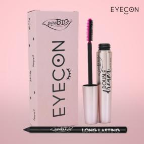 Zestaw EYECON – Mascara DOUBLE DREAM czarna iKredka LONG LASTING – WCENIE MASCARY ! – PROMOCJA  – puroBiO