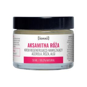 Krem regenerująco nawilżający AKSAMITNA RÓŻA Acerola, Róża, Algi – Iossi – 50 ml