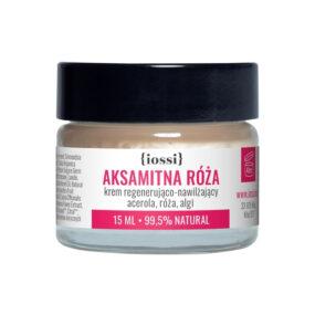 Krem regenerująco nawilżający AKSAMITNA RÓŻA Acerola, Róża, Algi – Iossi – 15 ml