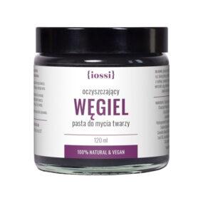 Oczyszczająca pasta domycia twarzy WĘGIEL – Iossi – 120 ml