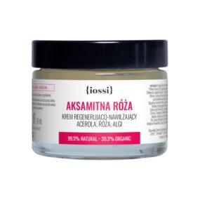 Krem regenerująco – nawilżający AKSAMITNA RÓŻA Acerola, Róża, Algi – Iossi – 50 ml