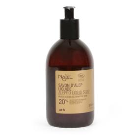 Mydło Aleppo wpłynie, skóra wrażliwa 20% oleju laurowego, certyfikowane – Najel – 500 ml