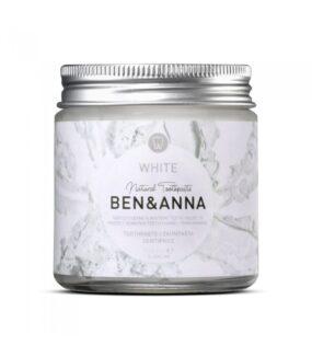 Naturalna wybielająca pasta dowrażliwych zębów zszałwią irokitnikiem WHITE – BEN&ANNA – 100 ml