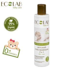 Żel podprysznic & szampon dowłosów dla dzieci od0+ bezłez – Eco Laboratorie – 250 ml