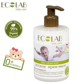 Krem-mydło dla dzieci od0+ (bezsilikonów, parabenów, barwników, syntetycznych konserwantów) – Eco Laboratorie – 300 ml