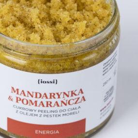 Peeling dociała energetyzująca MANDARYNKA IPOMARAŃCZA – Iossi – 250 ml