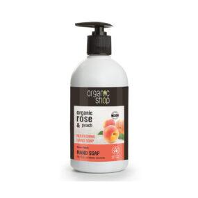 Mydło dorąk odżywcze Róża iBrzoskwinia – Organic Shop – 500 ml