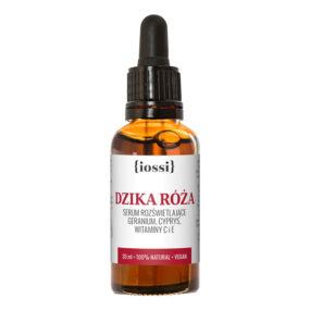 Serum rozświetlające DZIKA RÓŻA geranium, cyprys, witaminy C iE – Iossi – 30 ml