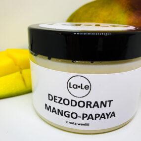 Dezodorant ekologiczny wkremie ozapachu mango-papya znutą wanilii – La-Le -150 ml