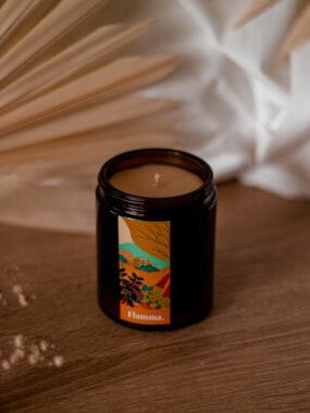Świeca zwosku rzepakowego ALLURIA – Flamma – 170 ml