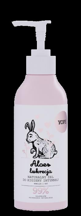 Naturalny żel dohigieny intymnej ALOES ILUKRECJA – Yope – 300 ml