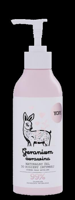 Naturalny żel dohigieny intymnej GERANIUM IŻURAWINA – Yope – 300 ml