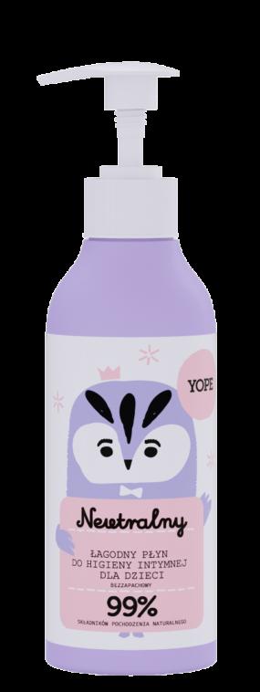 Naturalny żel dohigieny intymnej dla dzieci BEZZAPACHOWY – Yope – 300 ml