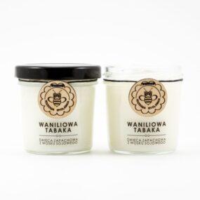Świeca sojowa – WANILIOWA TABAKA – Miodowa Mydlarnia – 120 ml