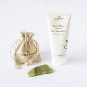 Hydrofilne masło oczyszczające + jadeitowa płytka gua sha domasażu twarzy iszyi – Polemika