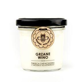 Świeca sojowa – GRZANE WINO – Miodowa Mydlarnia – 120 ml