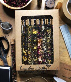 Zestaw szklanych probówek Herbat – Legalne Ziółka – 200 g