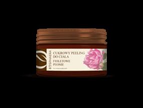 Peeling cukrowy dociała – FIOLETOWE PEONIE – Bosphaera – 200 g