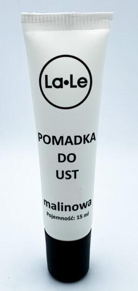 Pomadka nawilżająca doust MALINA wtubce zrecyklingu – La-Le – 15 ml