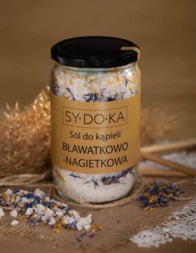 Sól dokąpieli BŁAWATKOWO-NAGIETKOWA – Sydoka – 800 g