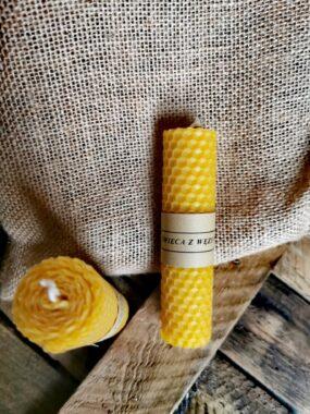 Świeca zwęzy pszczelej mała – Bazarek Natury