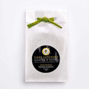 Szampon wkostce bezpuszki – TRAWA CYTRYNOWA – Miodowa Mydlarnia – 70 g