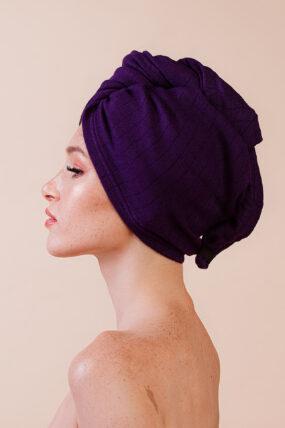 Turban Dry It Up ciemny fiolet – Anwen