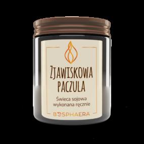 Świeca sojowa ZJAWISKOWA PACZULA – Bosphaera – 190 g